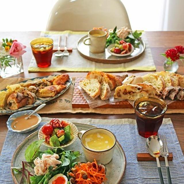 作り置き料理で気軽におもてなし♪ワンプレートでおうちパンランチ