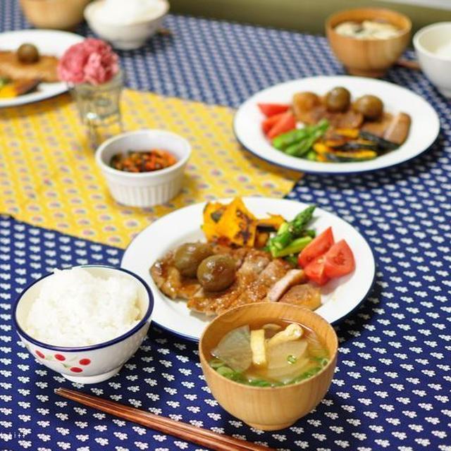 豚ロース肉の甘辛梅酒ソテーと、Enjoy The Season7月レシピ更新^^