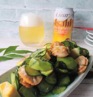 【レシピあり】おうち呑みに♪火を使わないベビーホタテのポン酢サラダ