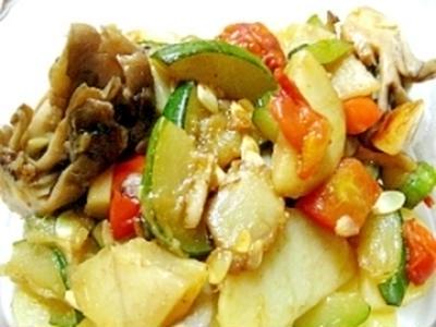 ズッキーニとジャガイモのオイル煮