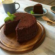 レンジで5分のチョコレートケーキ〜アイスと一緒に(^ ^)〜