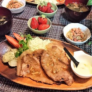 我が家のイチオシ【豚の生姜焼き】de 夕食 & やっぱりおバカなのね・・・(^^;)