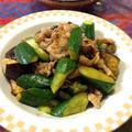 たまには主役。胡瓜と豚肉のピリ辛炒め。 by quericoさん