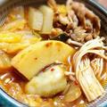 キムチの多量投入‼︎煮込まずチゲ鍋 by maya缶さん