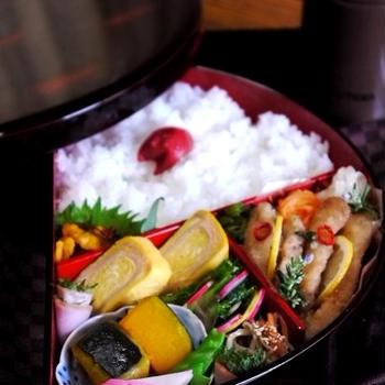 ◆豚唐揚のマリネ弁当。