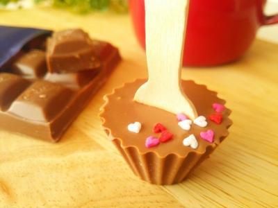 ショコラショー用スプーン付チョコ《 キャドバリー・バレンタインスイーツレシピモニター》