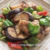 夏野菜と焦がしにんにくの炒め物