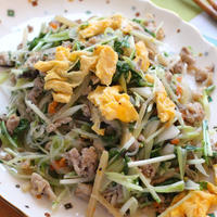 クセになる・水菜の塩チャプチェ