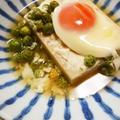 高野豆腐のポーチドエッグのせ