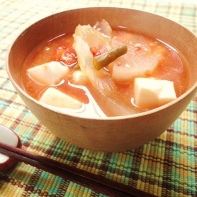 トマト缶 de Miso Soup☆  Can of Tomato's Miso Soup☆