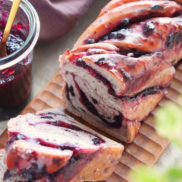 【レシピ】ブルーベリーのツイストパン