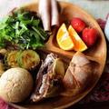 野菜のガーリックソテーで朝ごはん