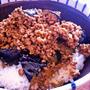 ピリ辛でトロトロな茄子がうまい「なすと挽肉の辛味噌丼」
