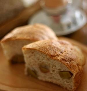 バーミキュラでパン ゴロゴロの安納芋入り