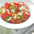 週末の癒しランチ!あま〜くやさしいフルーツトマトの冷製フェデリーニ。