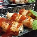 【レシピ】超簡単★風味良し★とろ〜りチーズ★ピリっと【大葉とチーズの豚ロール・BBQソース】