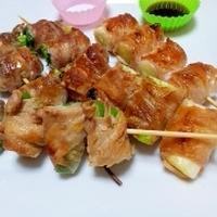タバスコでホットな豚バラと野菜の串焼き