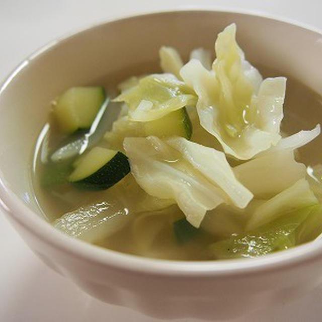炒め野菜のスープ