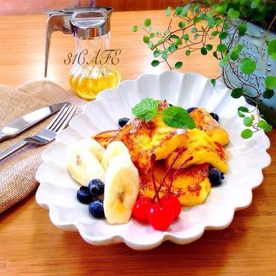 ♡幸せな朝食♡simpleなフレンチトースト♡【簡単】