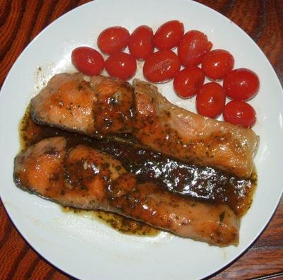鮭と夏野菜で晩ご飯