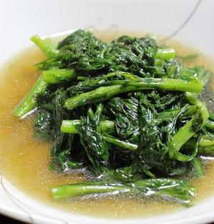 <がっつり青菜炒め(春菊)>