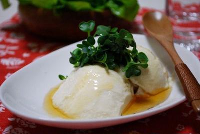 『絹豆腐の塩ゴマ油かけ』と「シャトーブリア~ン♪」