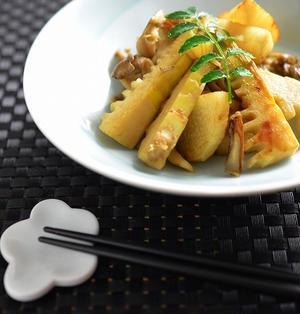 筍と山芋・舞茸の香り炒め