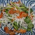 ≪鶏皮と パクチー白髪ねぎの サラダ≫