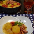 クローブ風味☆塩麹とじゃが芋のトマト煮