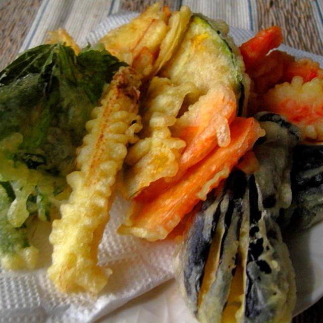 七月野菜のてんぷら 〜七月の野菜〜
