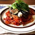 【簡単!!パスタ】なすとひき肉とチーズのトマトソーススパゲッティ*トマト缶でトマトソース