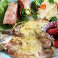 ■ワンプレート朝ご飯【イワシのチーズ焼き/菜の花巻きベーコンソテー/ポテトサラダ他】