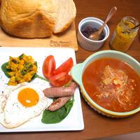 簡単ミネストローネで洋食朝ごはん!