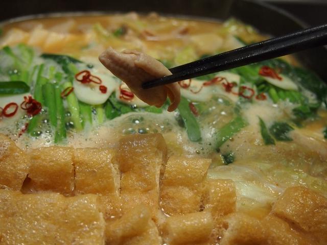 3. 味がしみ込む♩とり野菜みそdeもつ鍋