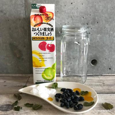 果実酒レシピ|「ハスカップ」で作る美味しいお酒の作り方。北海道の味です。
