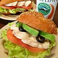 蒸し鶏&野菜サンドです☆