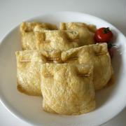 【トースターde簡単おつまみ】はんぺんのツナと大葉の油揚げ包み焼き♪