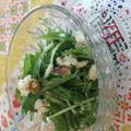 水菜と豆腐とクルミのサラダ