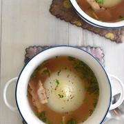 マイナビニュースでの連載更新しました♪炊飯器で作る! - 簡単「新玉ねぎの丸ごとスープ」