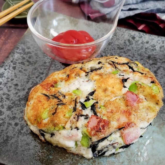~節約&簡単♪~【枝豆とひじきのお魚チーズハンバーグ】#簡単レシピ #作り置き #お弁当