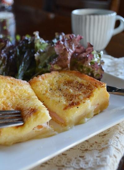 甘くないフレンチトースト*ハム&チーズ