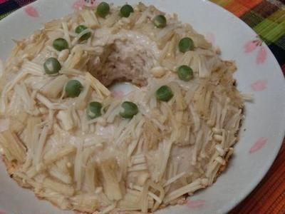 エノキ衣で糖質ダウン♪ フライパンで作るふわっふわドーナツ型シュウマイ