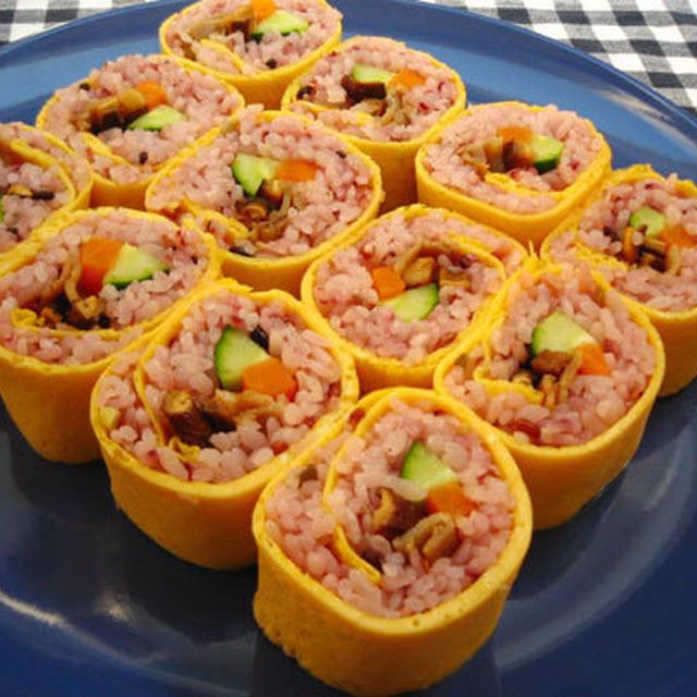 雑穀米de巻き寿司