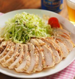 マヨネーズでしっとり柔らか!鶏むね肉のトースター焼き