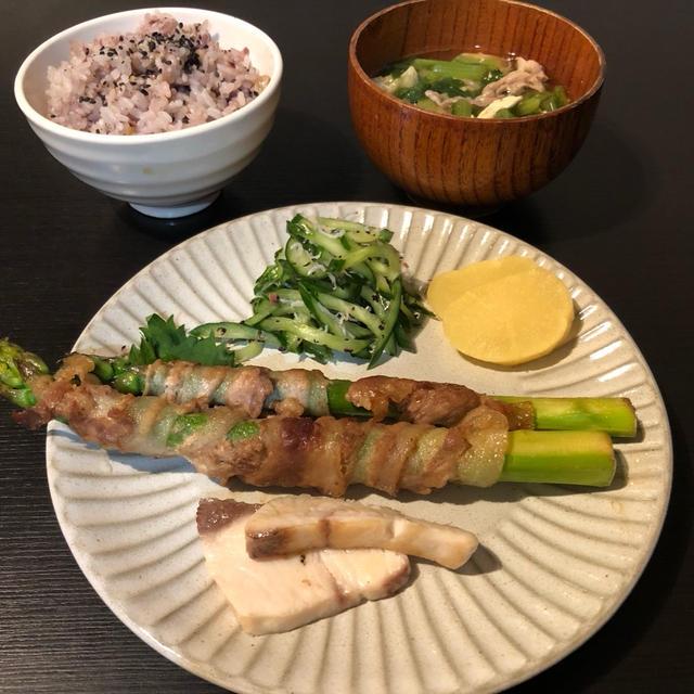 WED 10/14/2020【幼児食・3歳】アスパラガスの豚肉巻き