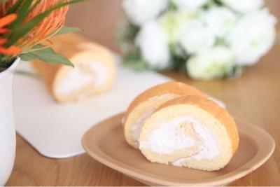 バニラシフォン風ロールケーキ