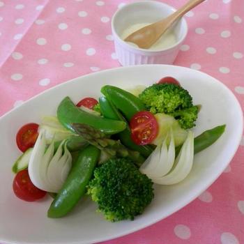 ポリ袋でパッククッキング 蒸し野菜のサラダ