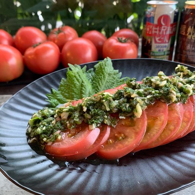 【岐阜県産夏秋トマト】冷やしトマトの香味だれがけ