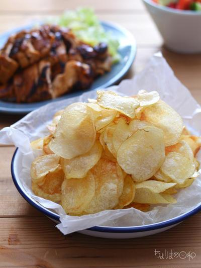 ポテトチップスとレモン鶏の晩ごはん。と、トルコ食材の夕べ。