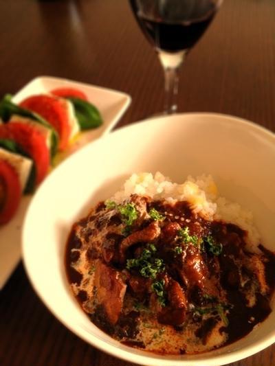 おつまみレシピ:インド風チキントマトカレー